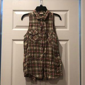 Pink/Brown Flannel Cutoff
